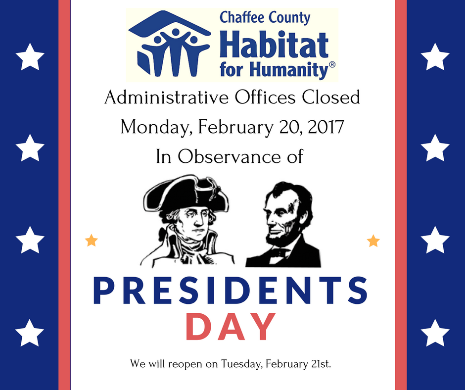 Closed Presidents Day-1