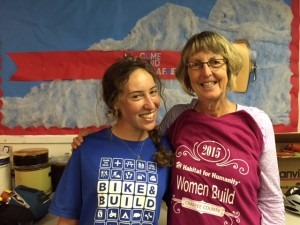 Returning 2013 Intern Rachel Hirsch, this time with Bike & Build (with Board of Directors Secretary and ReStore volunteer Molly Stethar)
