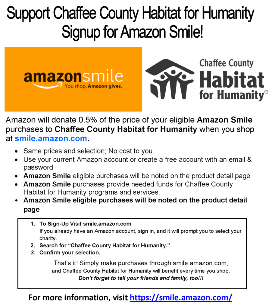 Chaffee County Habitat for Humanity & ReStore